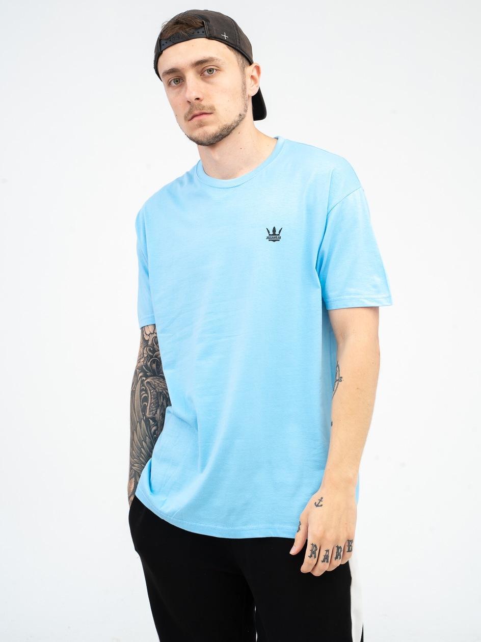Koszulka Z Krótkim Rękawem Jigga Wear Mini Crown Jasna Niebieska