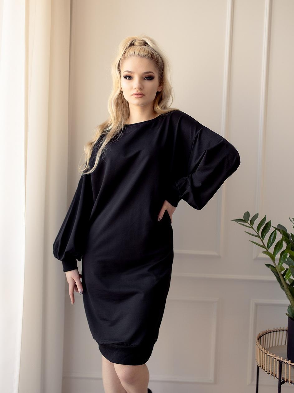 Sukienka Oversize Point X Back Slit Czarna