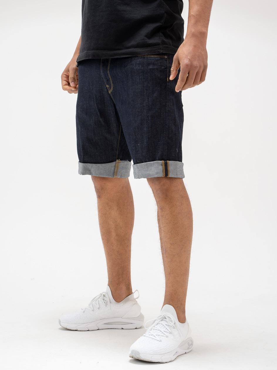 Krótkie Spodenki Jeansowe Carhartt WIP Swell Spicer Cotton Ciemne Niebieskie One Wash
