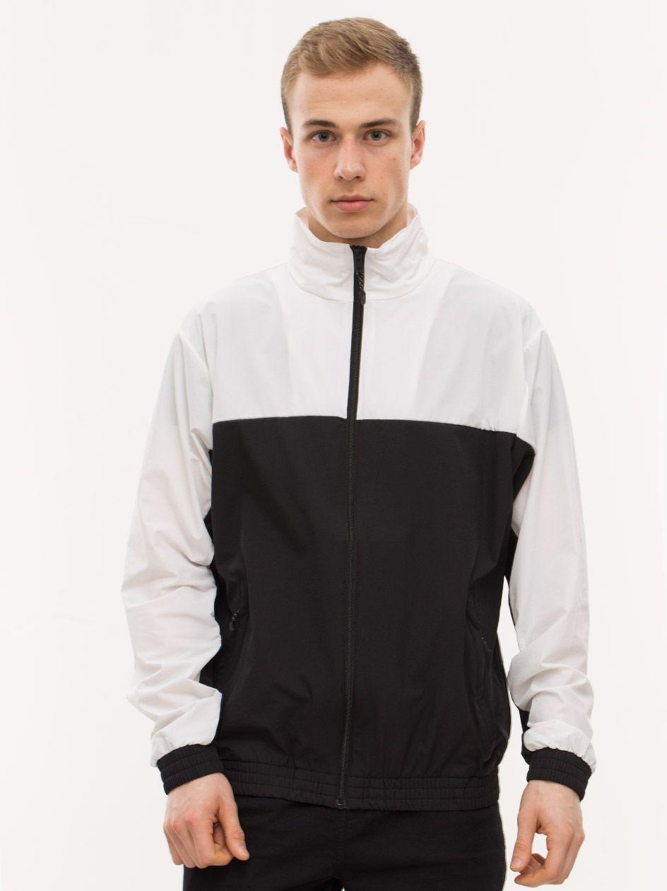 Retro Track Jacket Black White TB2098
