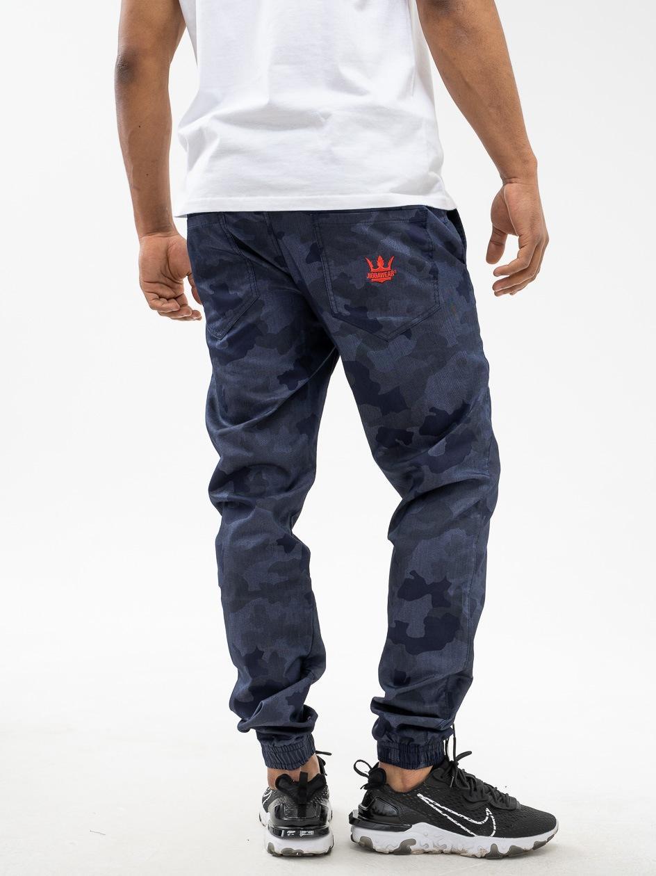 Spodnie Materiałowe Jogger Jigga Wear Crown Night Camo / Czerwone