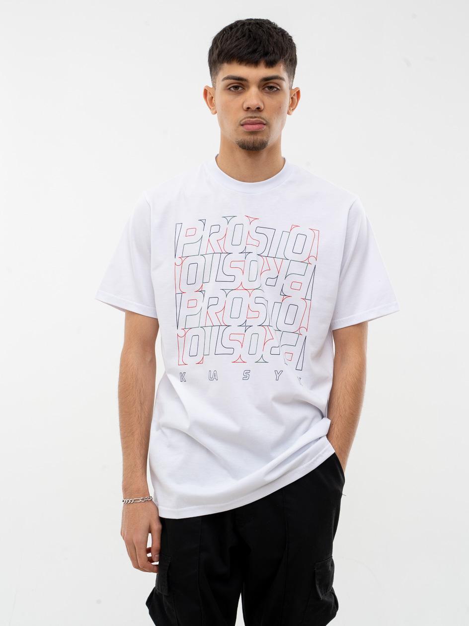 Koszulka Z Krótkim Rękawem Prosto Vabanq Biała
