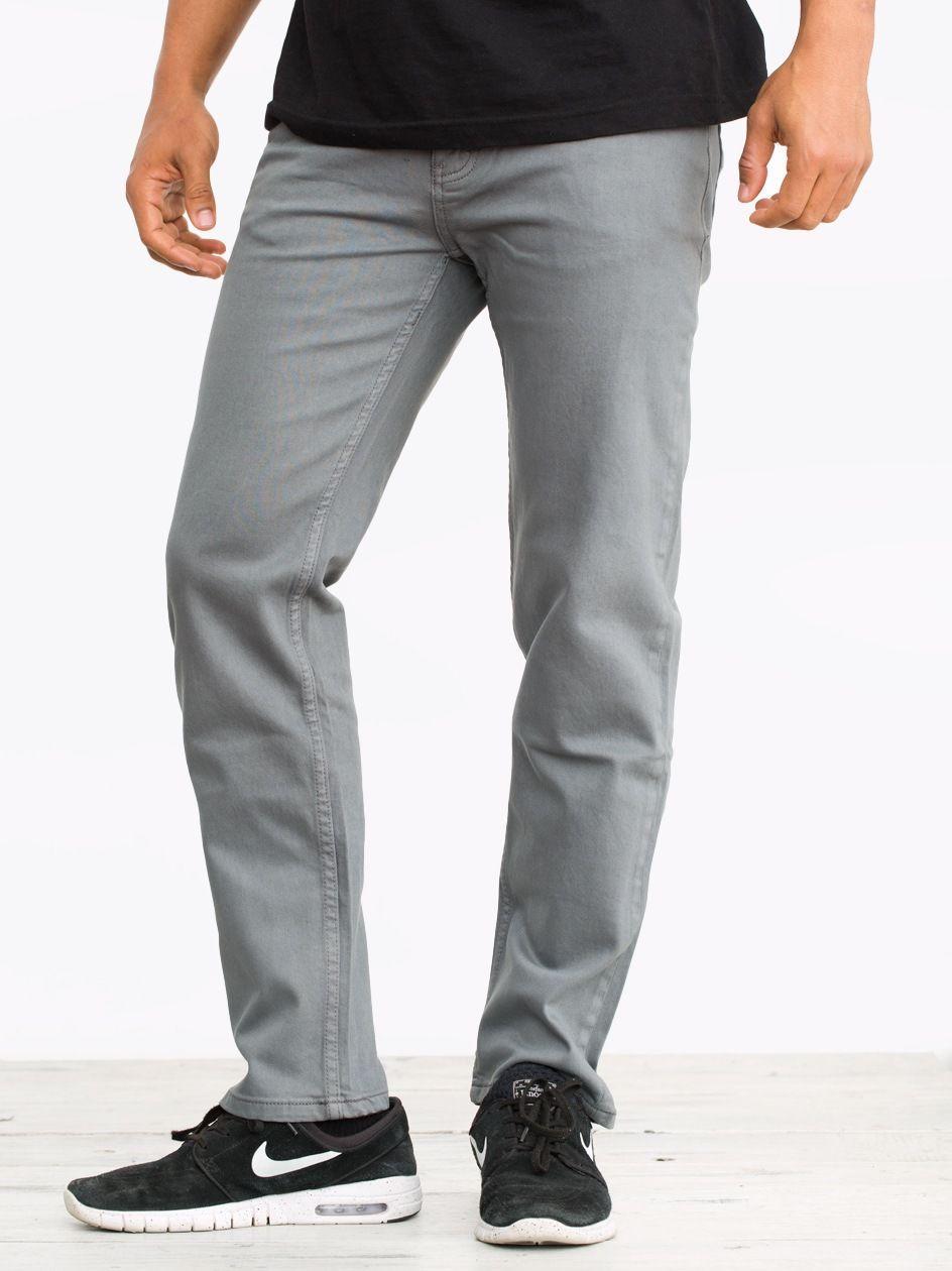 ID36 Slim Pant Grey Enzyme Denim