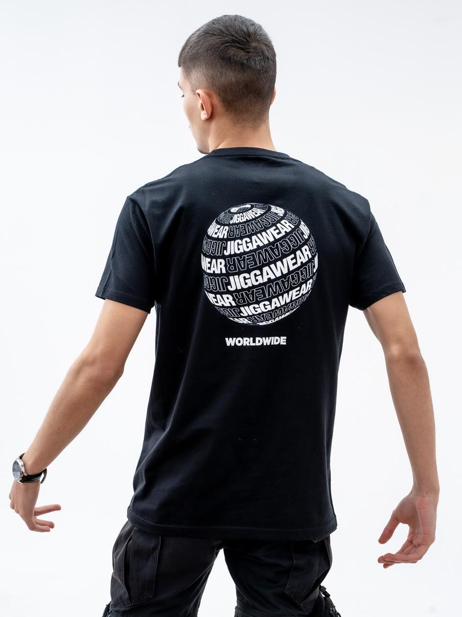 Koszulka Z Krótkim Rękawem Jigga Wear Worldwide Planet Czarna