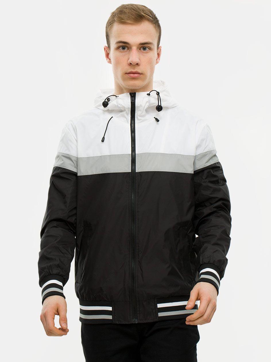 College Windrunner Black White Grey TB2104