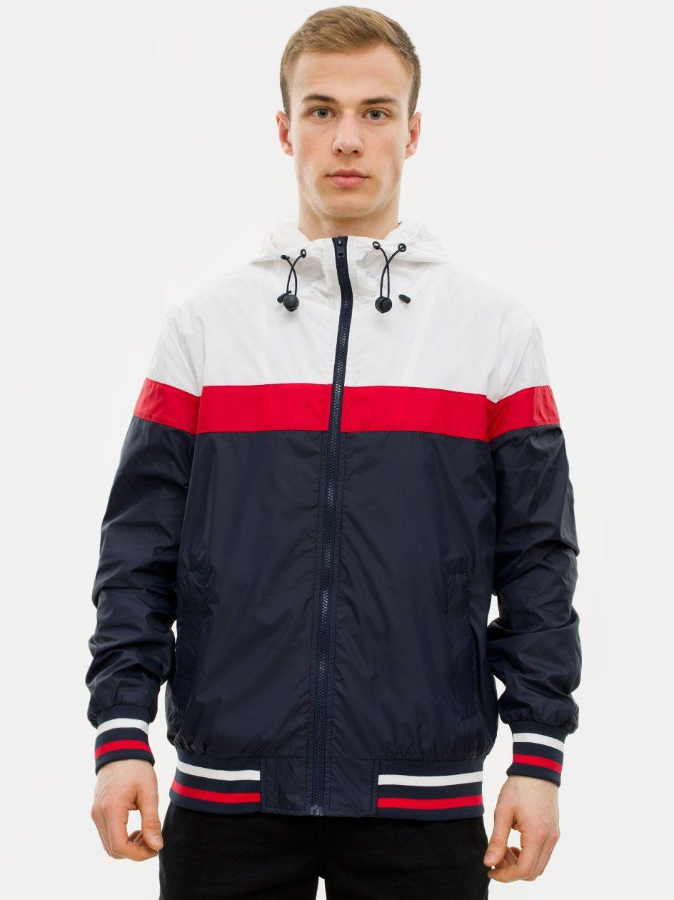 College Windrunner Navy White Fire Red TB2104