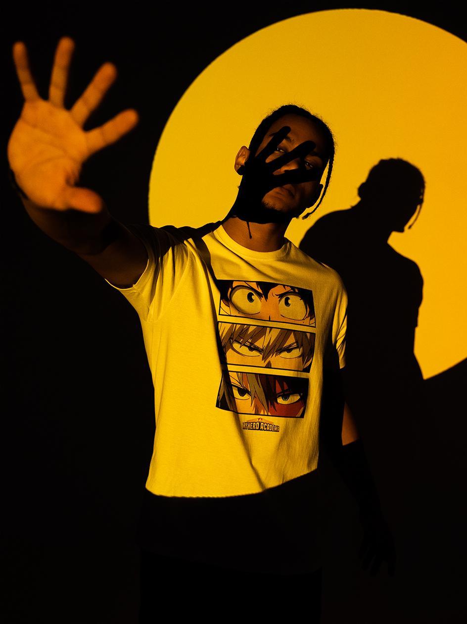 Koszulka Z Krótkim Rękawem My Hero Academia Hero Sight Biała