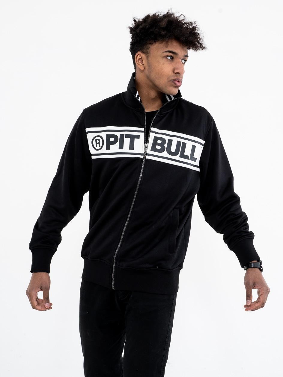 Bluza Track Jacket Pitbull West Coast Chest Logo Czarna