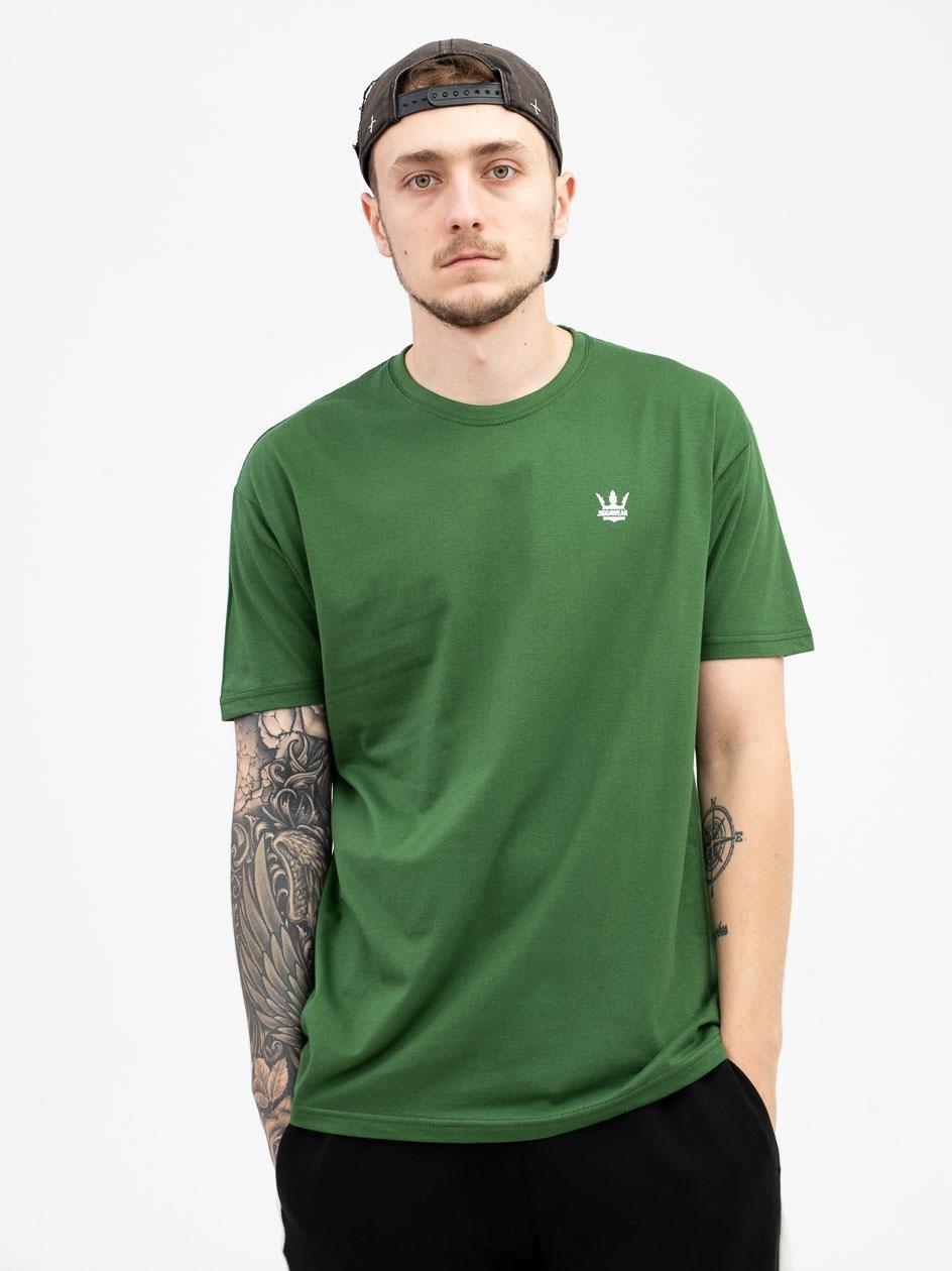 Koszulka Z Krótkim Rękawem Jigga Wear Mini Crown Ciemna Zielona