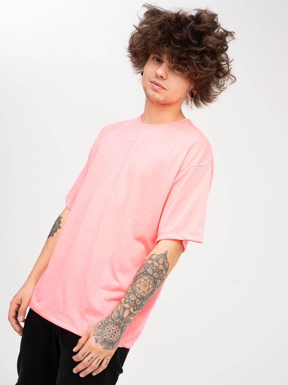 Koszulka Z Krótkim Rękawem Plus Eighteen Base Neonowa Różowa