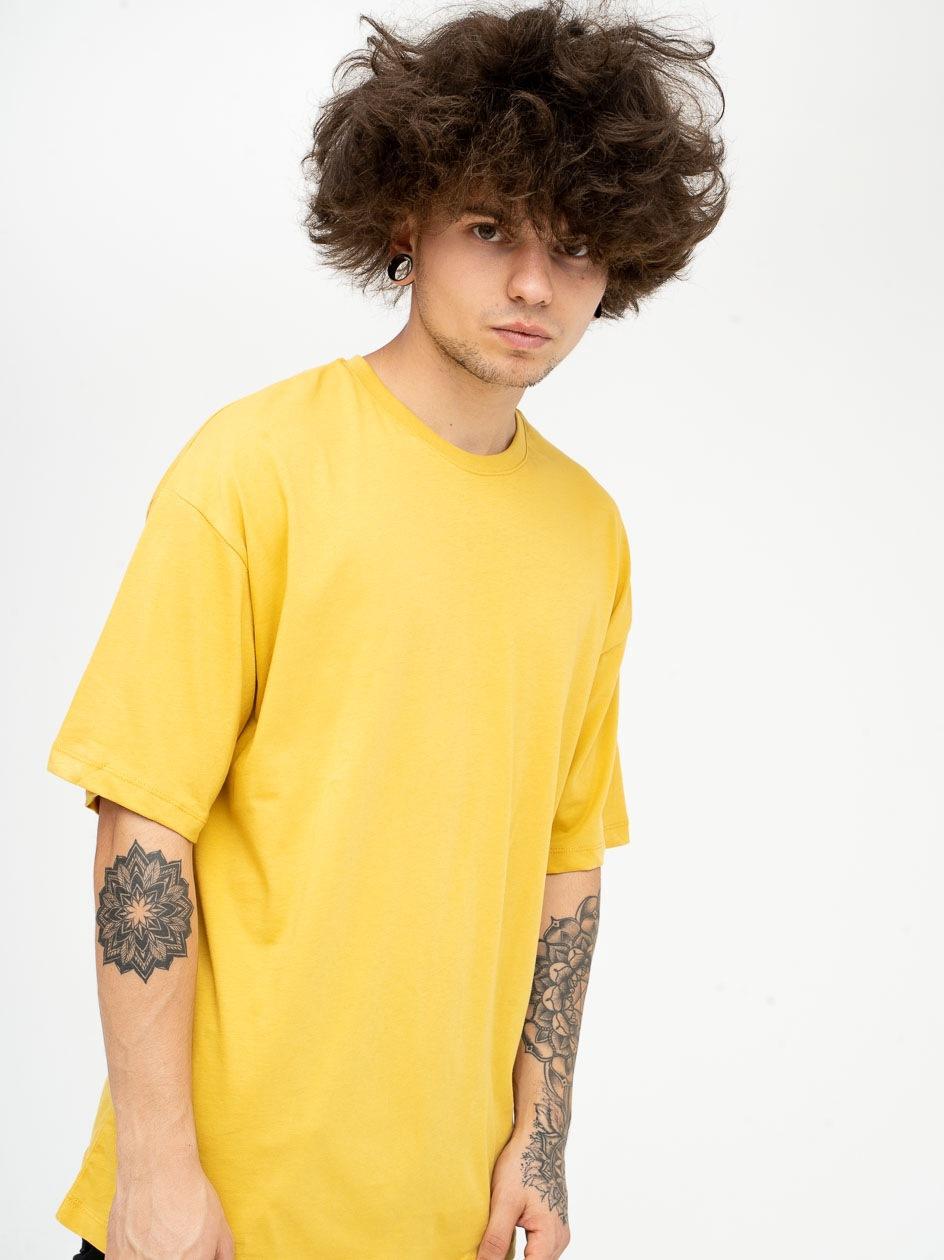 Koszulka Z Krótkim Rękawem Plus Eighteen Base Żółta