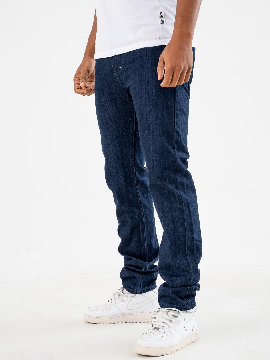 Spodnie Jeansowe Mass Signature Ciemne Niebieskie copy