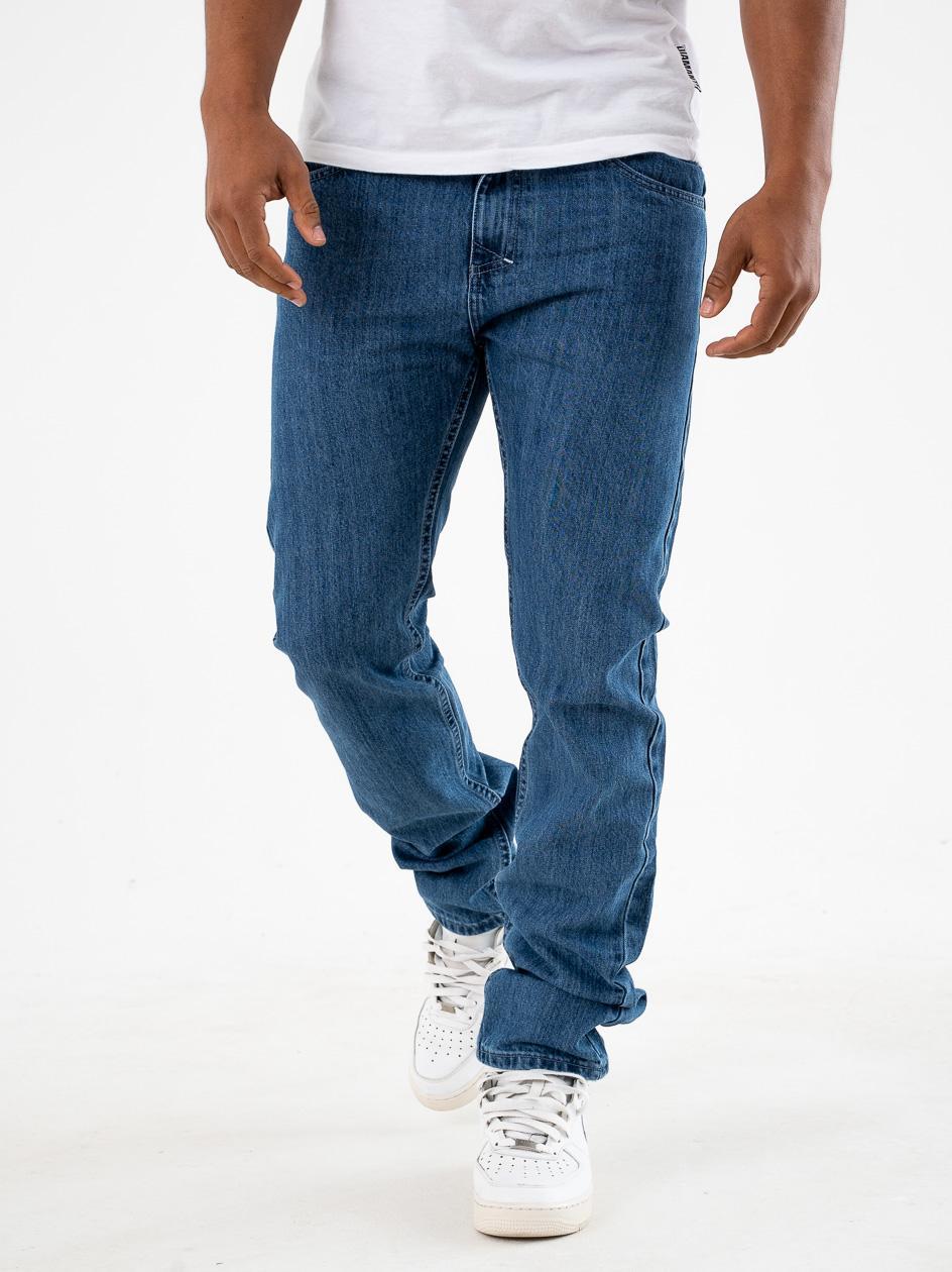 Spodnie Jeansowe Mass Signature Niebieskie