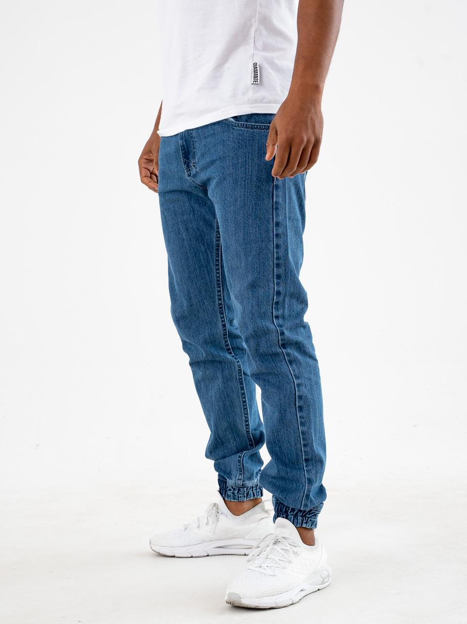 Spodnie Jeansowe Jogger Mass Base Niebieskie