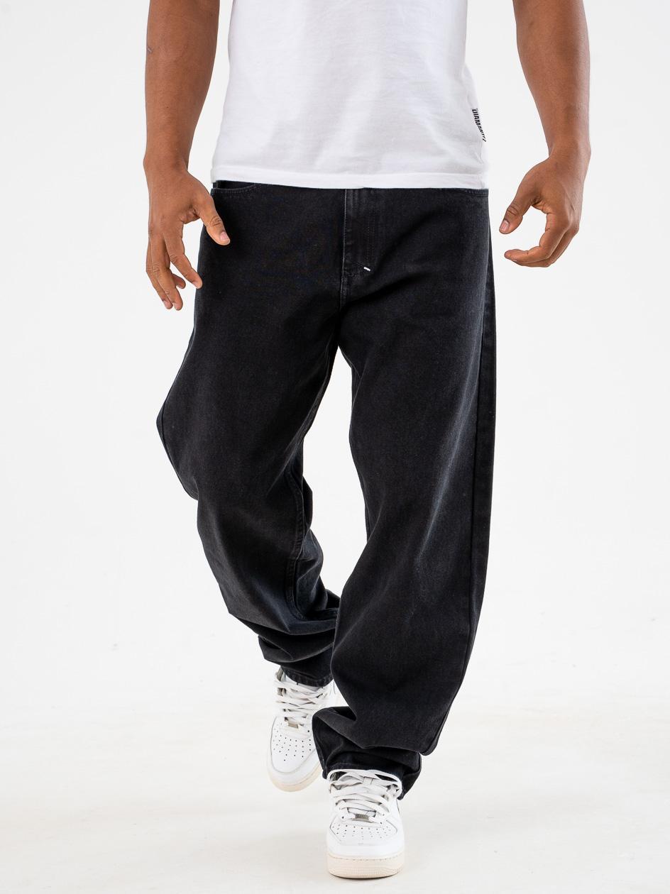 Spodnie Jeansowe Baggy Mass Slang Czarne