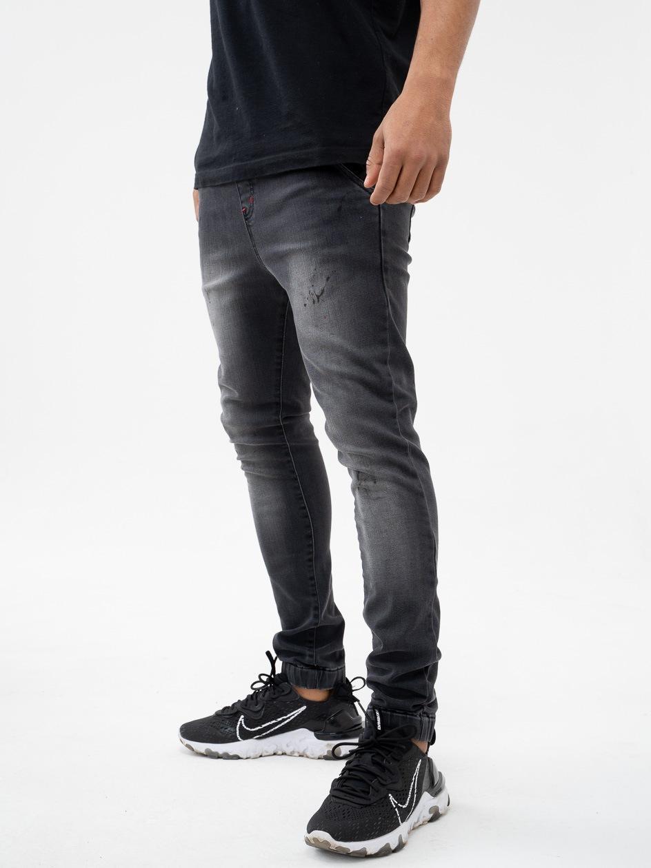 Spodnie Jeansowe Jogger UrbanCity Classic Spotted Sprane Czarne