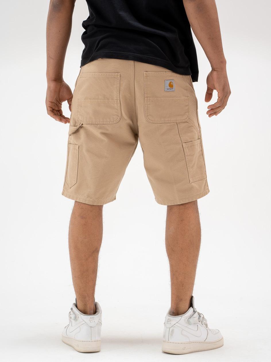 Krótkie Spodenki Jeansowe Carhartt WIP Single Knee Dearborn Organic Cotton Jasne Brązowe