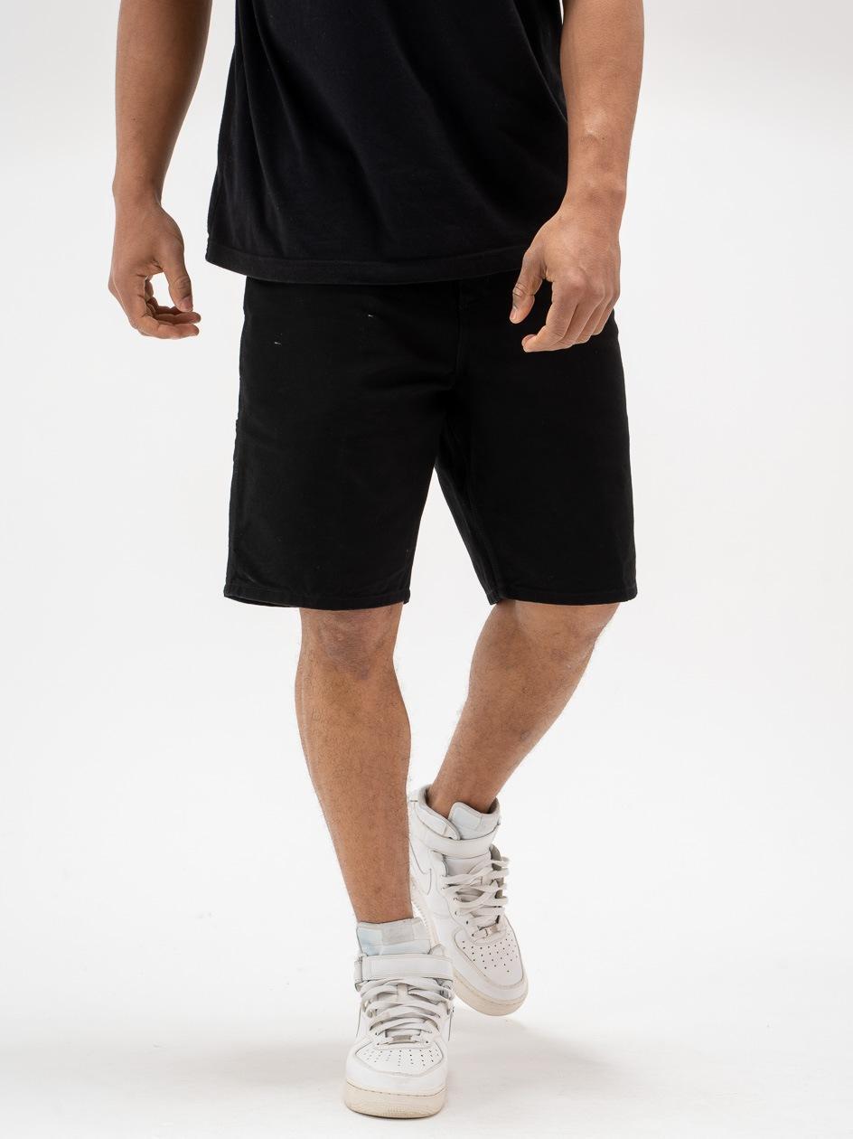 Krótkie Spodenki Jeansowe Carhartt WIP Single Knee Dearborn Organic Cotton Czarne