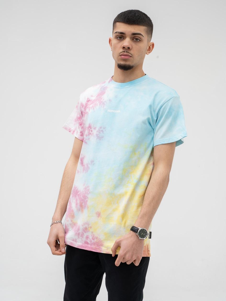 Koszulka Z Krótkim Rękawem Urban Selection Ribs Tie Dye Wielokolorowa
