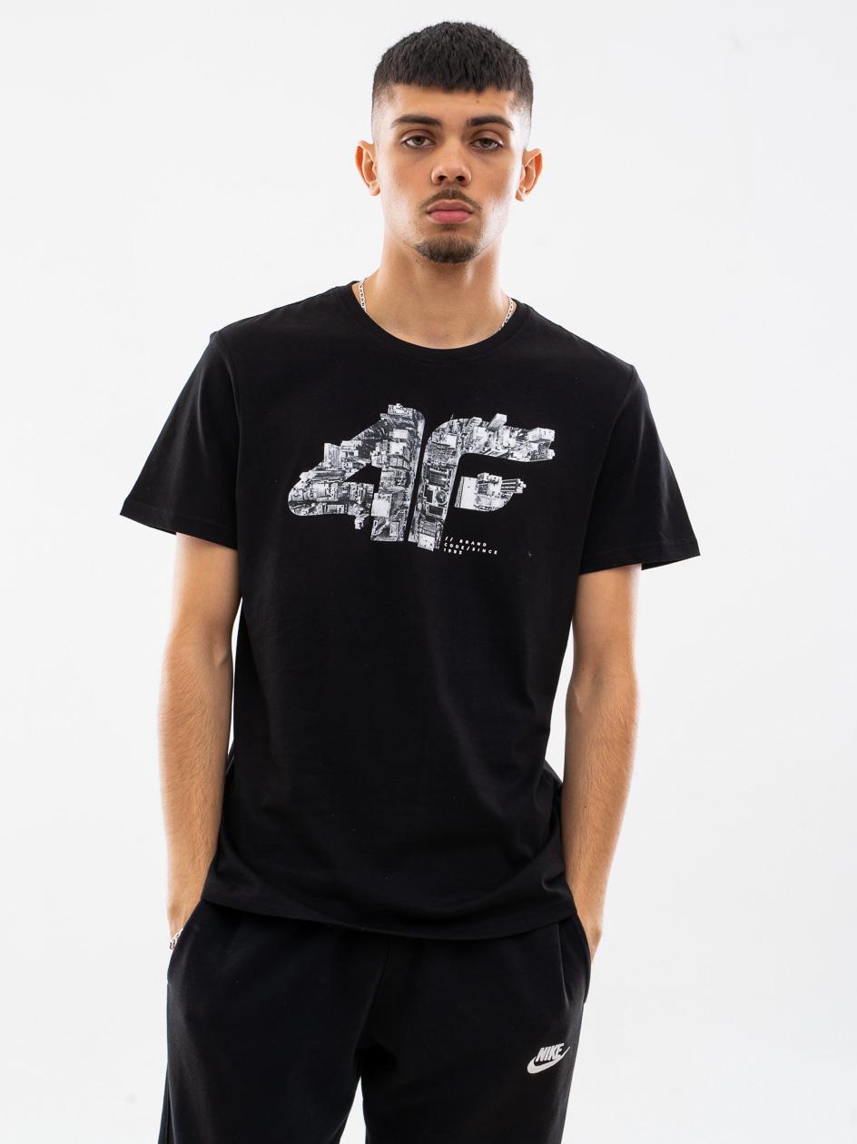 Koszulka Z Krótkim Rękawem 4F City Logo Czarna