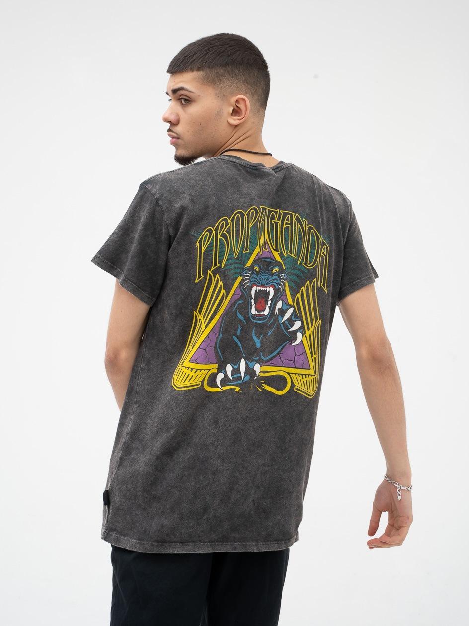 Koszulka Z Krótkim Rękawem Urban Selection Panther Tie Dye Czarna