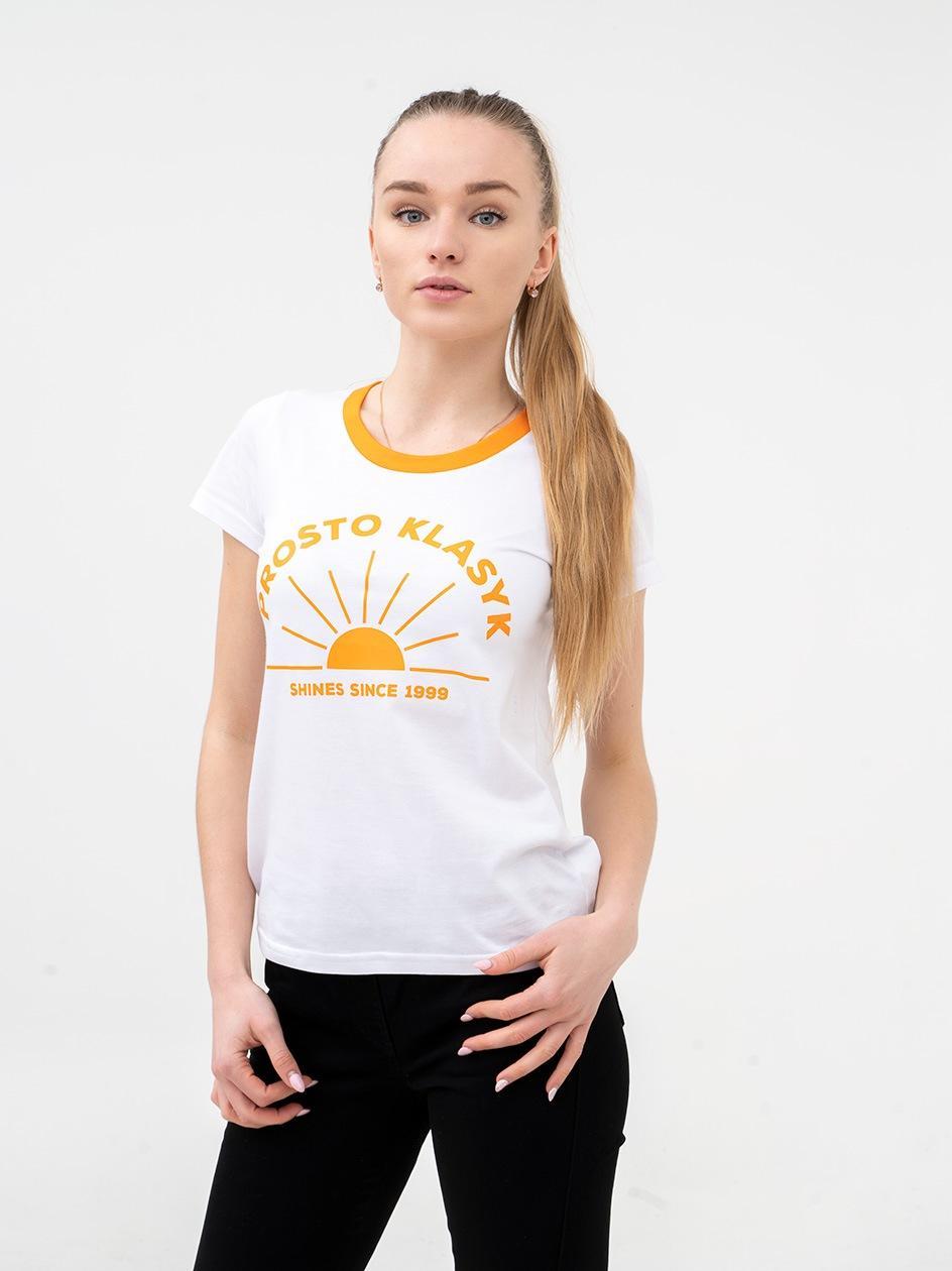 Damska Koszulka Z Krótkim Rękawem Prosto Shines Biała