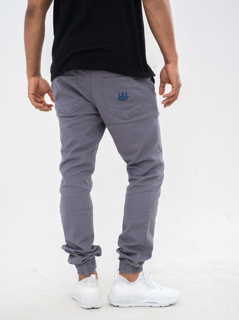 Spodnie Jogger Jigga Crown Stitch Szare / Niebieskie