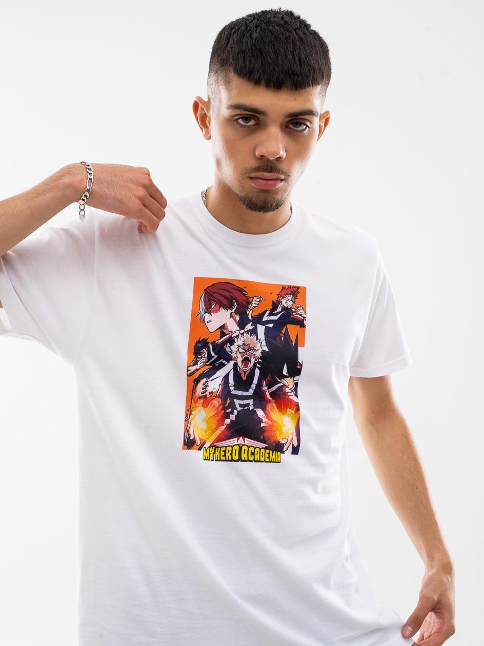 Koszulka Z Krótkim Rękawem My Hero Academia Upset Biała