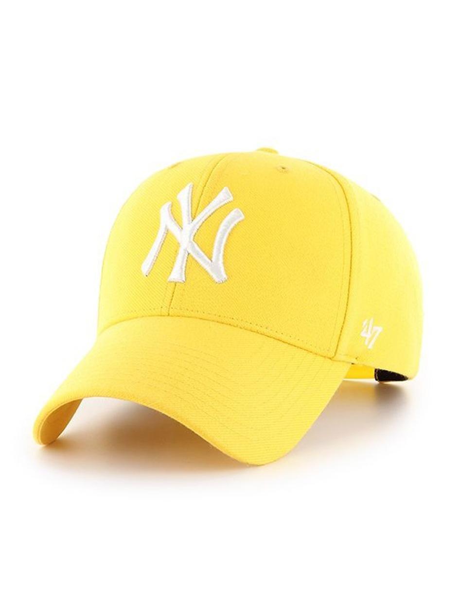 Czapka Z Daszkiem Dad Hat 47 Brand New York Yankees MLB MVP Snapback Żółta