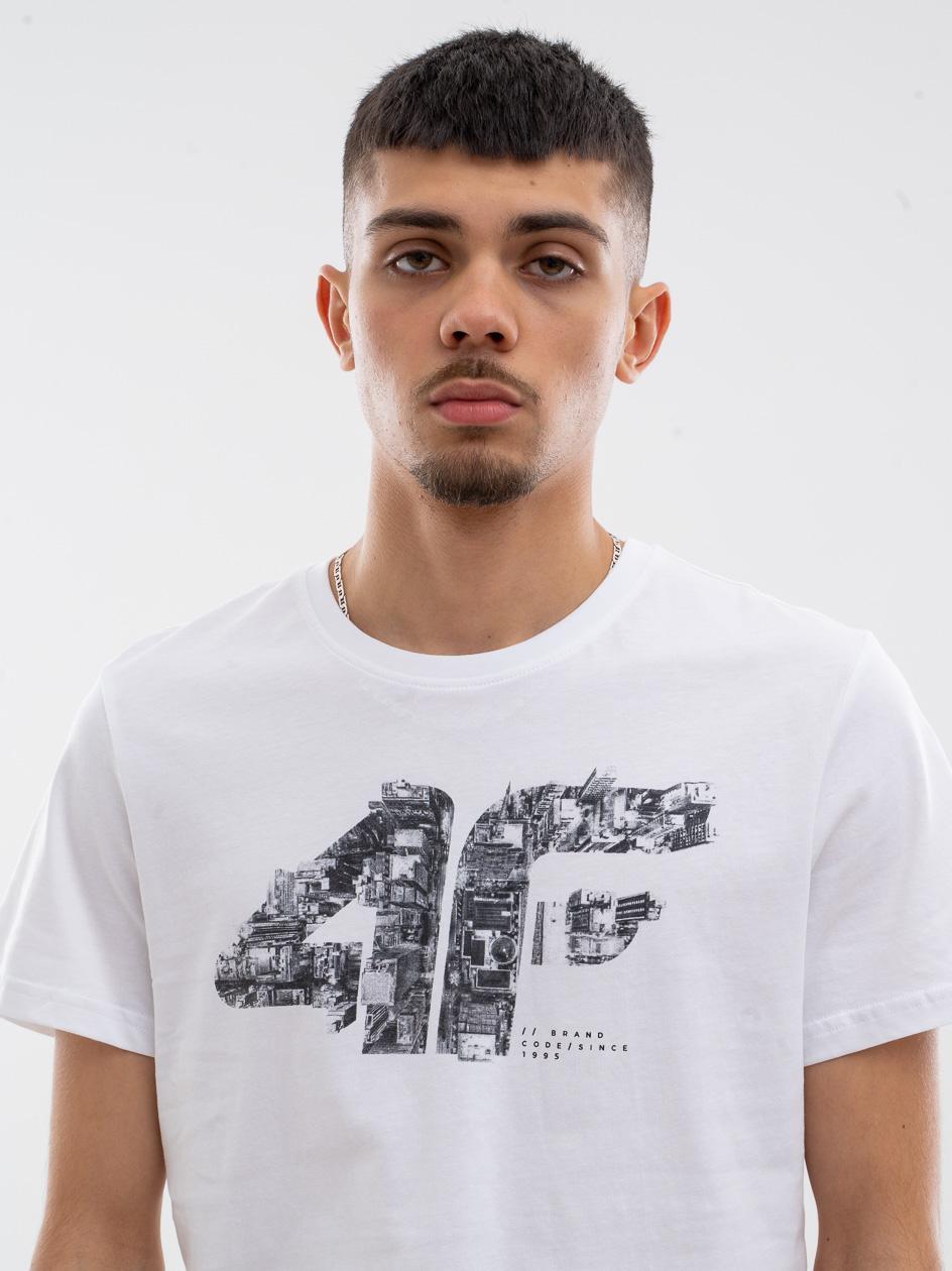 Koszulka Z Krótkim Rękawem 4F City Logo Biała