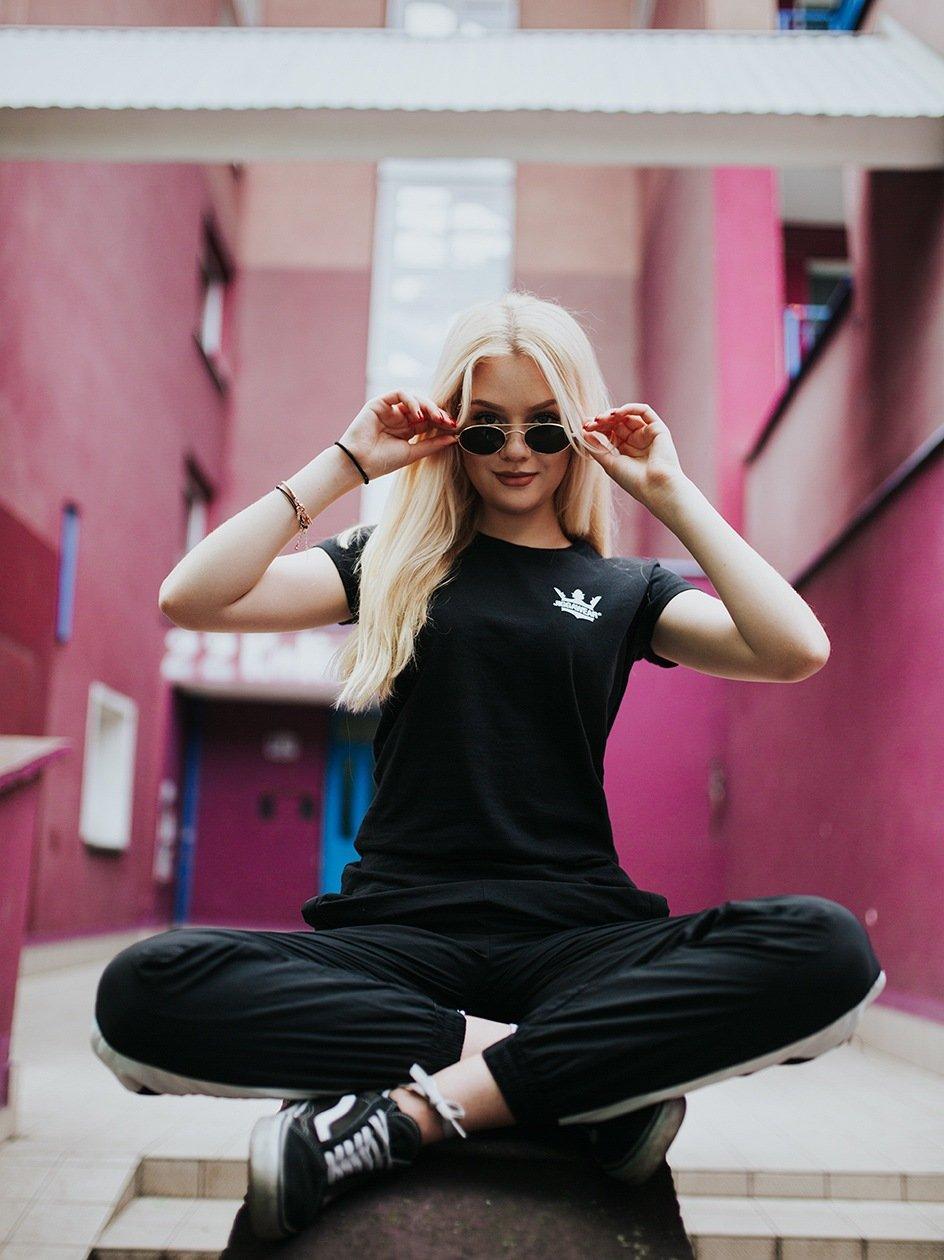 Damska Koszulka Z Krótkim Rękawem Jigga Classic Logo Czarna