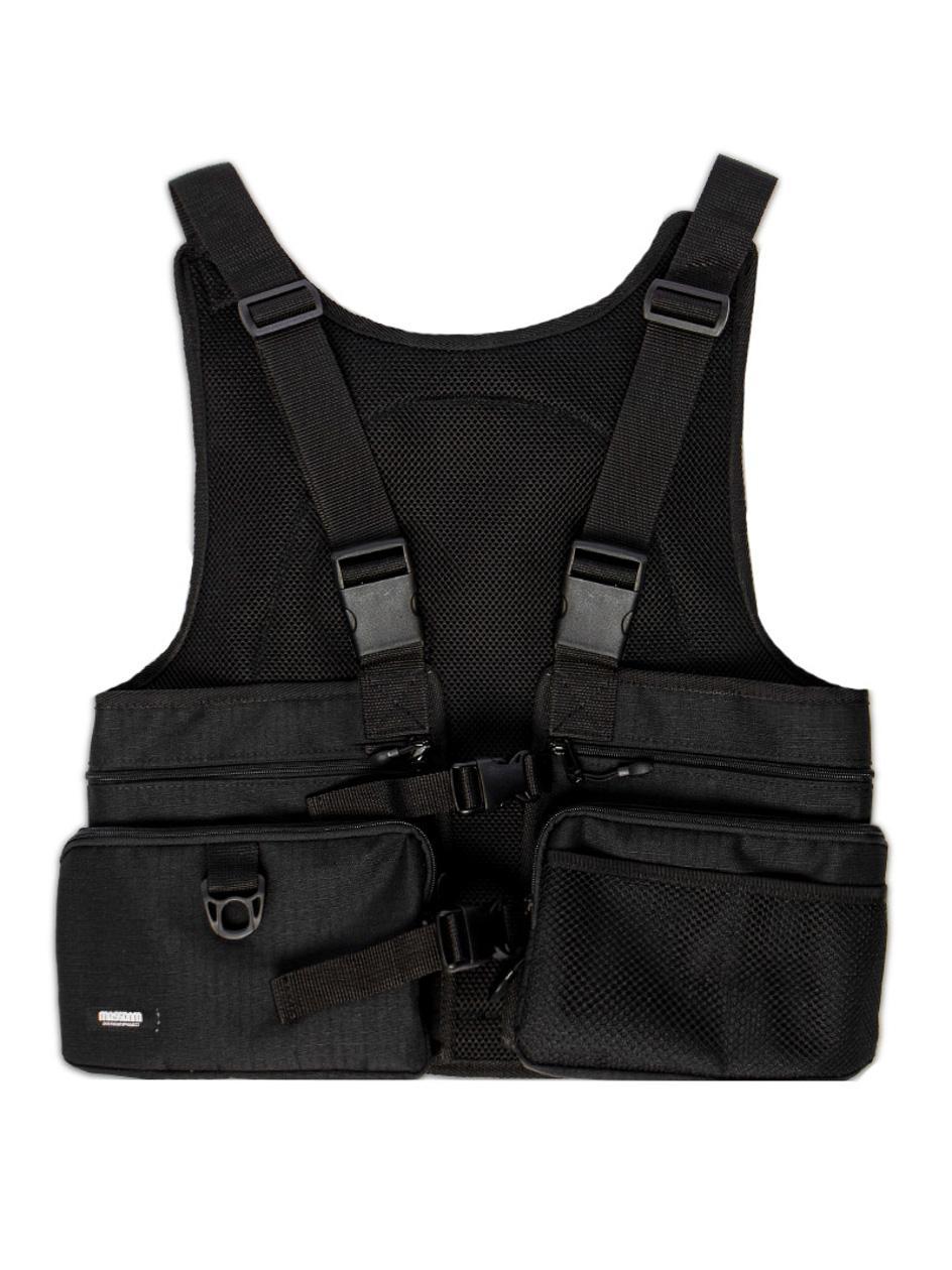 Kamizelka Z Plecakiem Mass Ches Bag Army Czarna