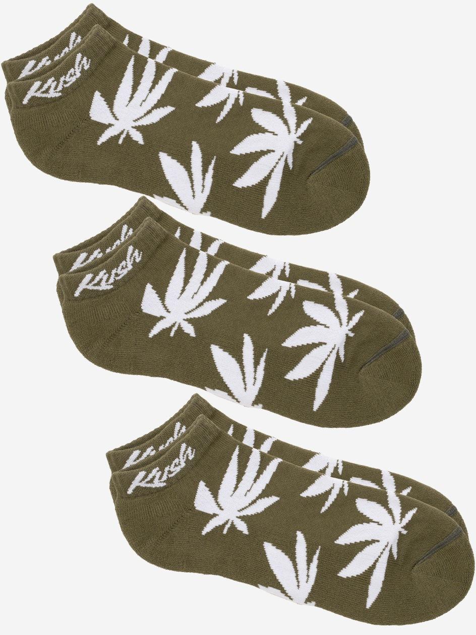 Zestaw 3 Par Skarpet Kush Smokers Oliwkowe / Białe