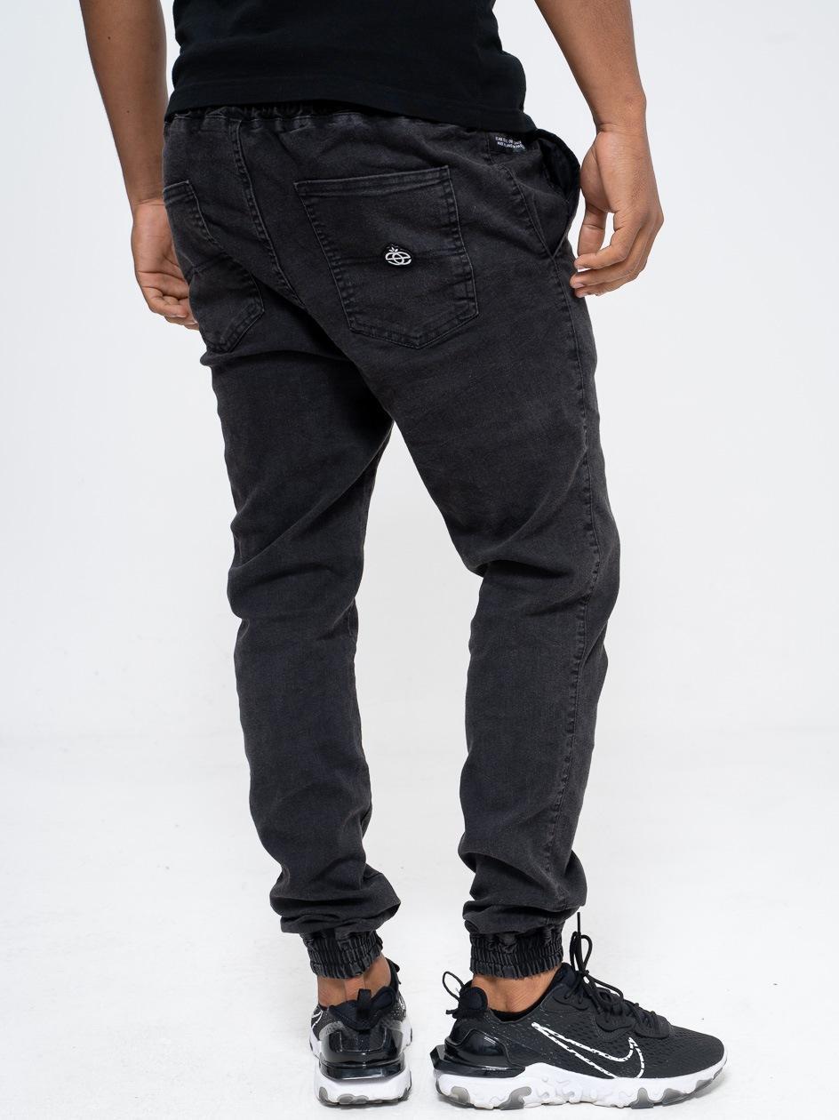 Spodnie Jeansowe Jogger Ze Ściągaczem Elade Icon Mini Logo Black