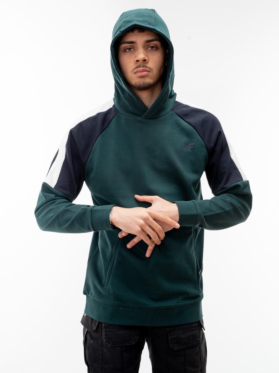 Bluza Z Kapturem 4F Armed Color Ciemna Zielona