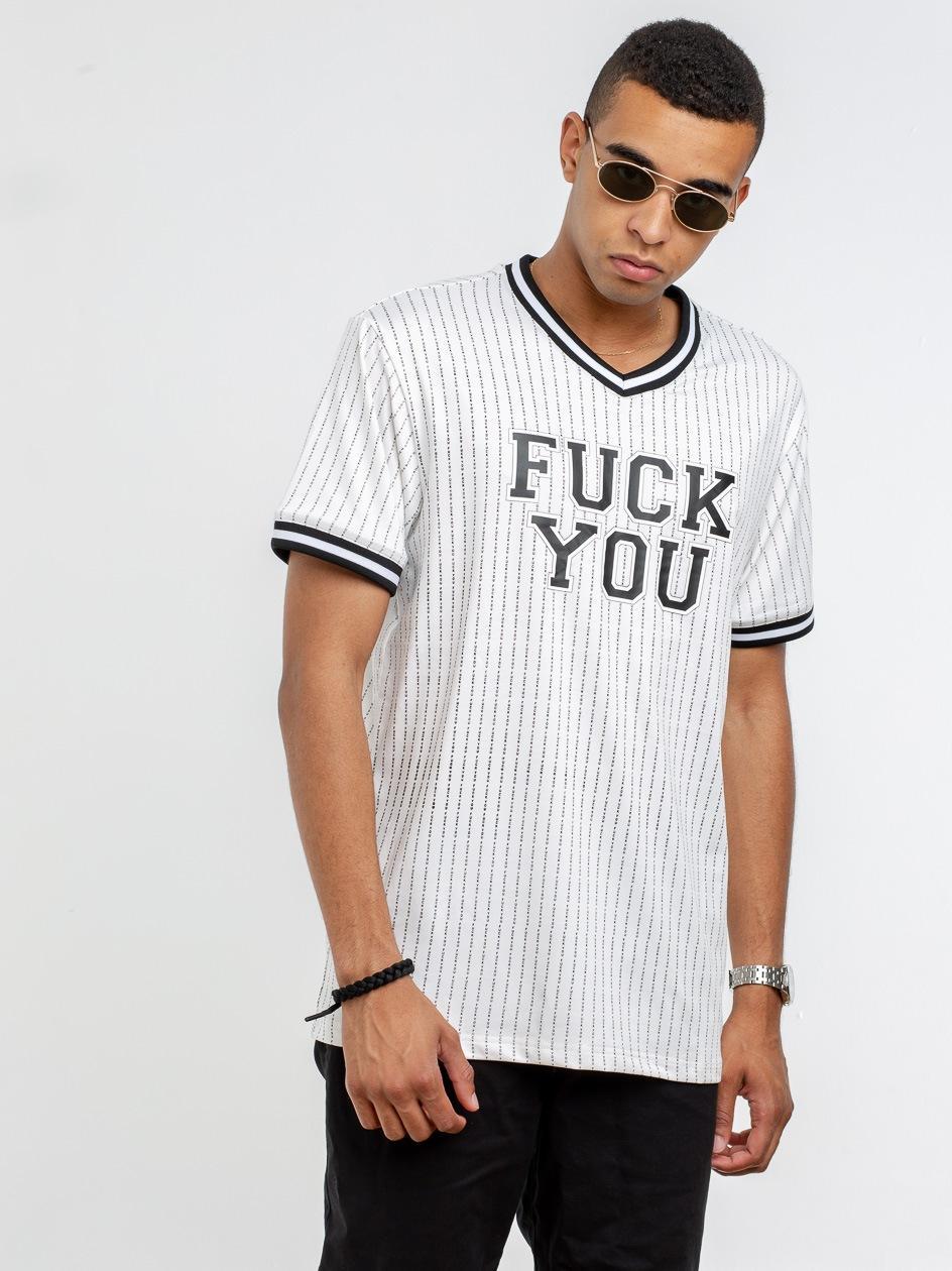 MT1039 Fuckyou Jersey White Black