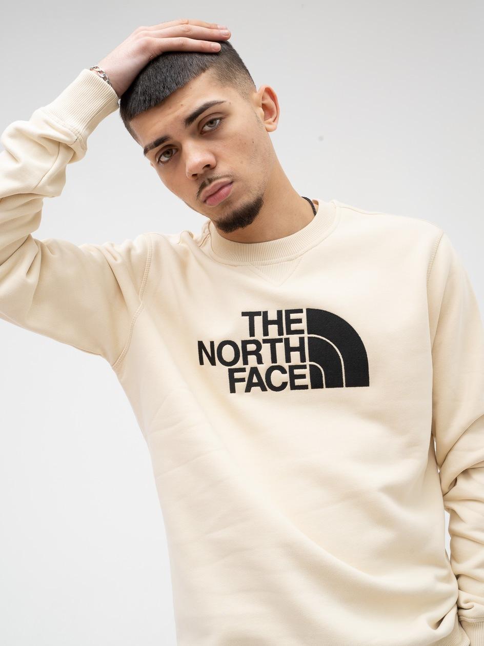 Bluza Bez Kaptura The North Face Drew Peak Beżowa