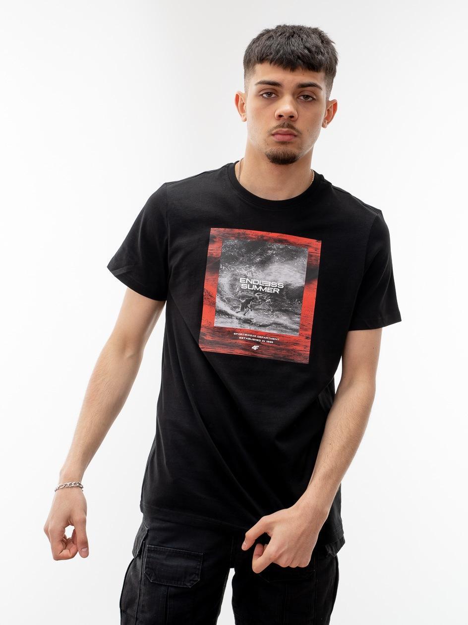 Koszulka Z Krótkim Rękawem 4F Endless Summer Czarna