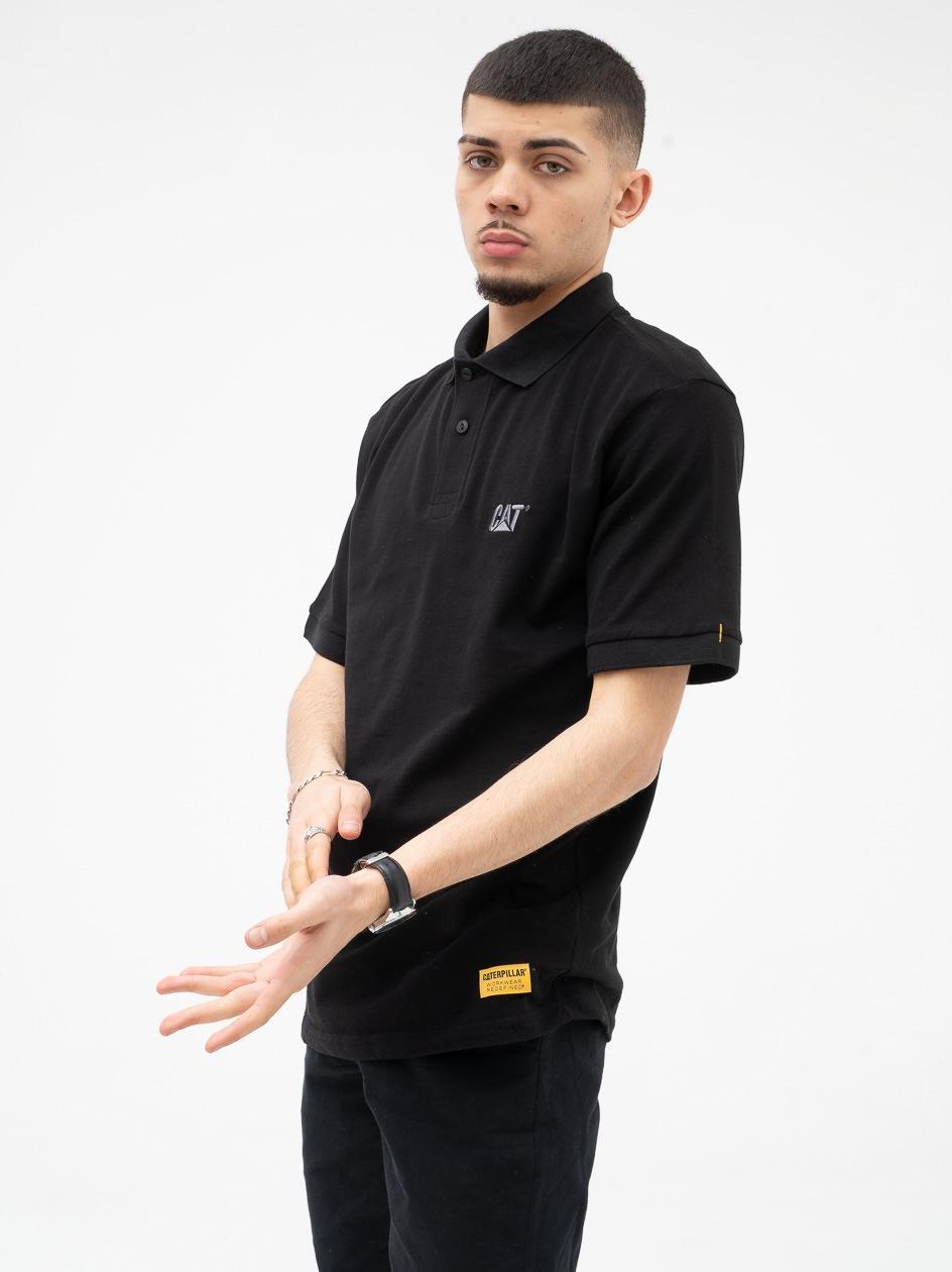 Koszulka Polo Z Krótkim Rękawem Caterpillar Tone to Tone Basic Czarna