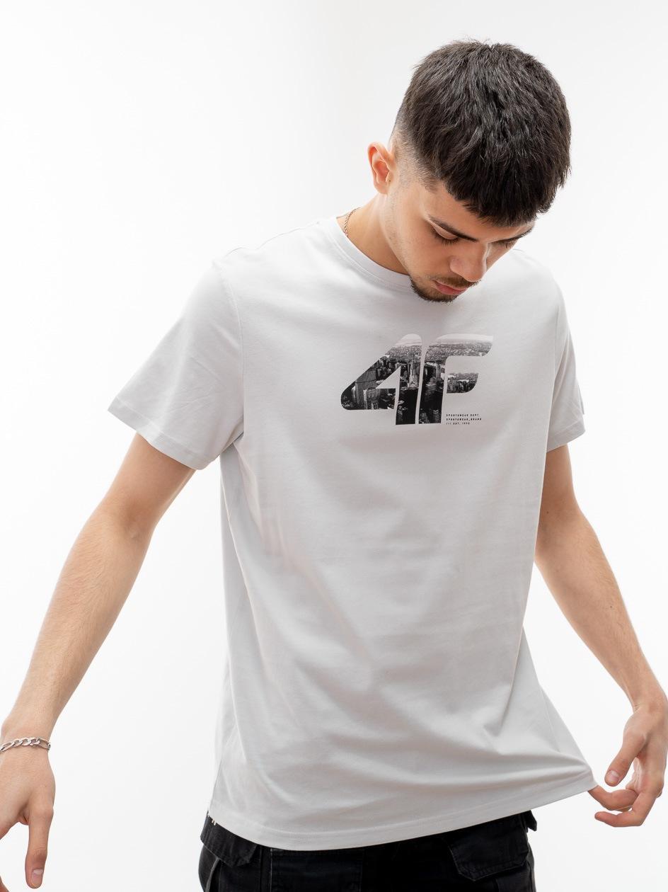 Koszulka Z Krótkim Rękawem 4F Logo City Jasna Szara