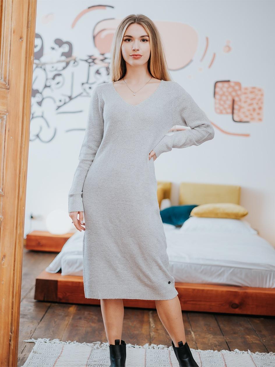 Sukienka Eight2Nine Clear Jumper Jasna Szara