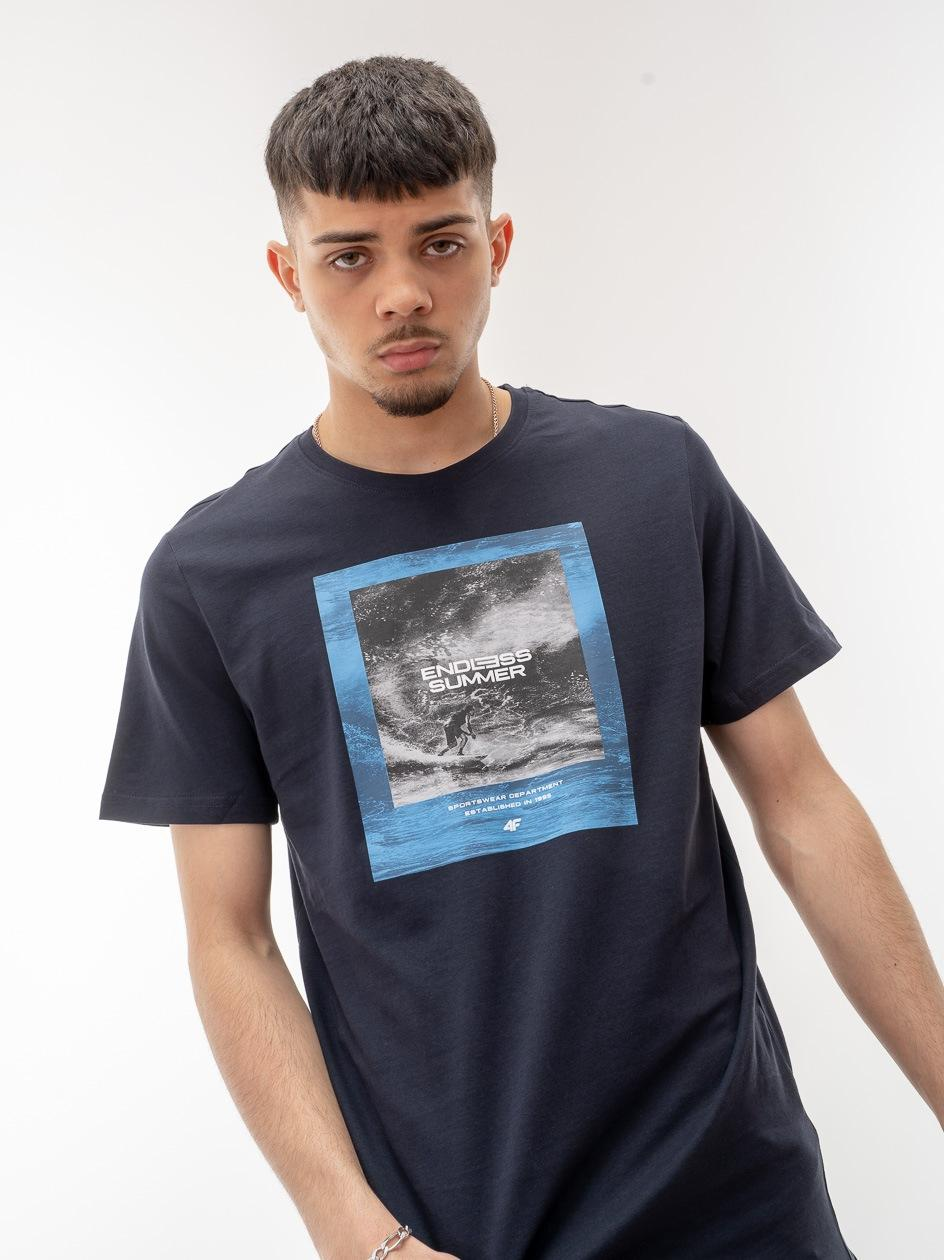 Koszulka Z Krótkim Rękawem 4F Endless Summer Granatowa
