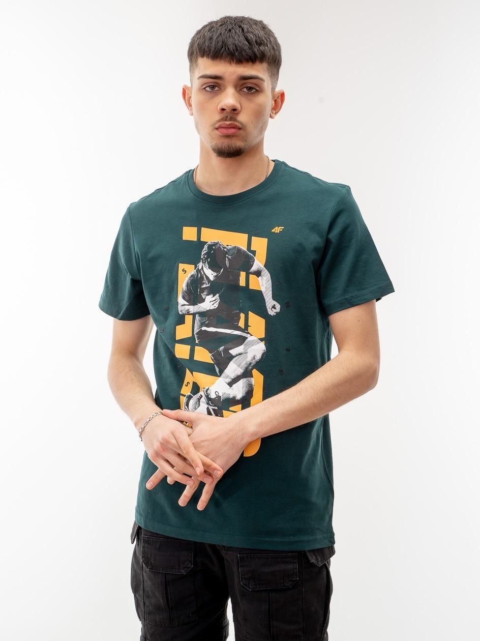 Koszulka Z Krótkim Rękawem 4F Player Ciemna Zielona