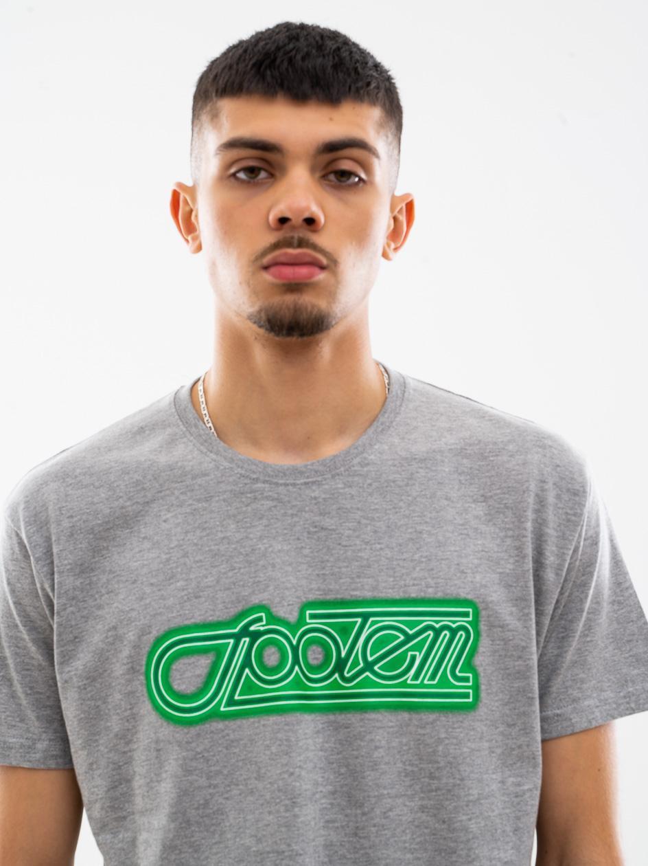 Koszulka Z Krótkim Rękawem UrbanCity x Społem Neon Szara / Zielona