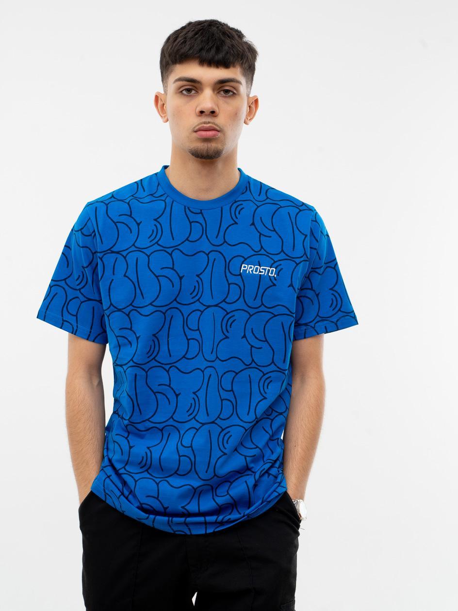 Koszulka Z Krótkim Rękawem Prosto Baggy Niebieska