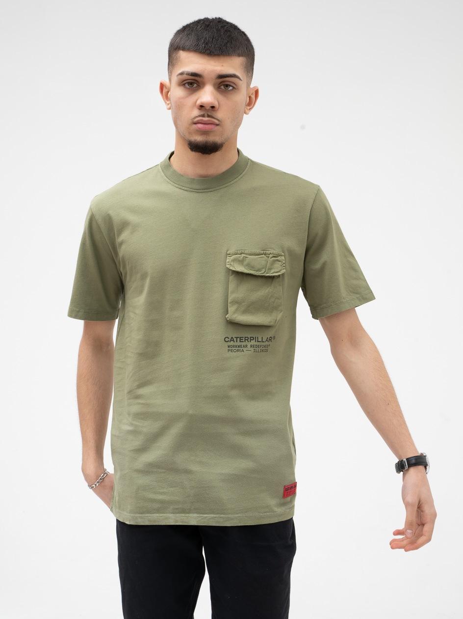 Koszulka Z Krótkim Rękawem Caterpillar Cat Workwear Pocket Oliwkowa