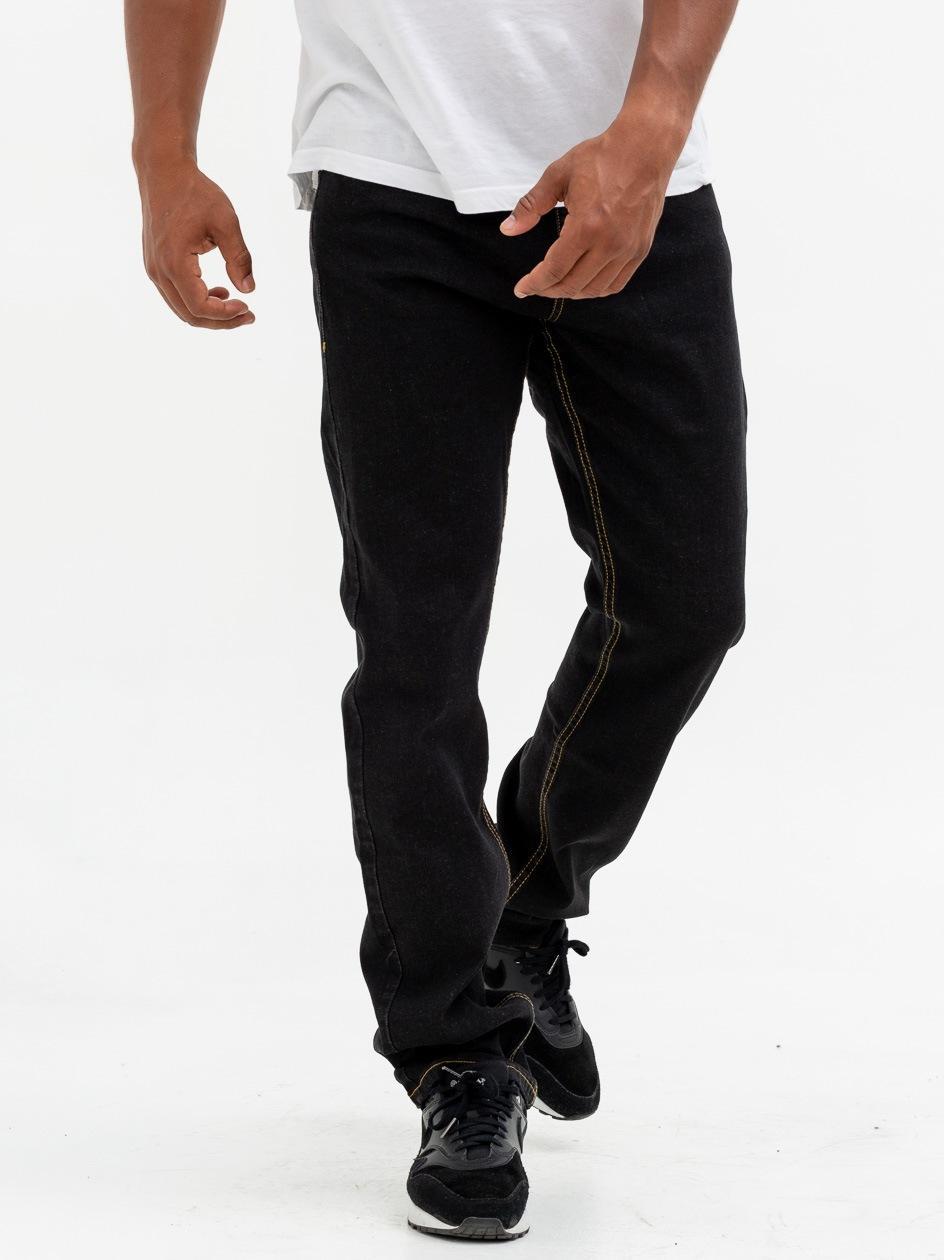 Spodnie Jeansowe Regular Mass Base Czarne