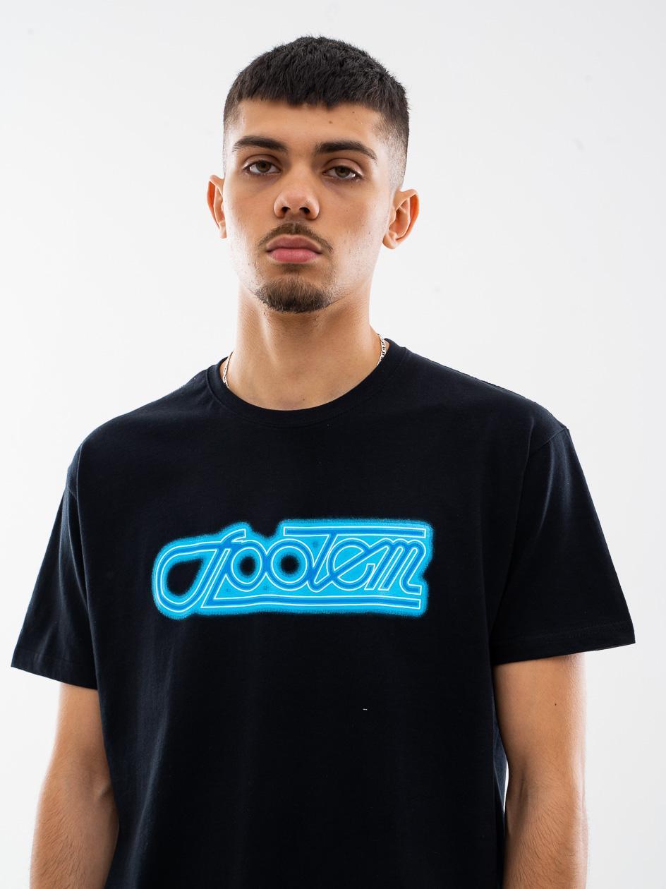 Koszulka Z Krótkim Rękawem UrbanCity x Społem Neon Czarna / Niebieska