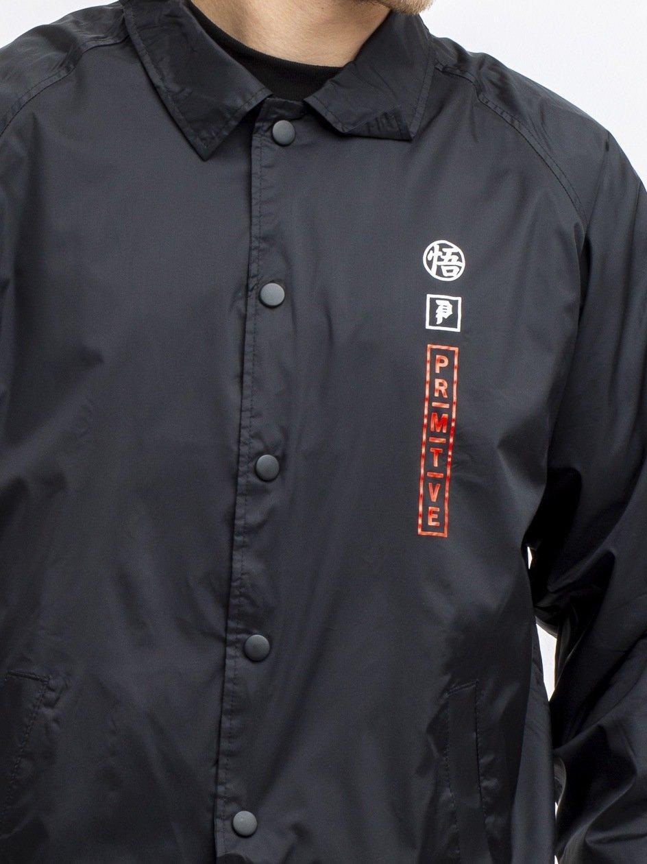 DBZ Goku Saiyan Style Coach Jacket Black