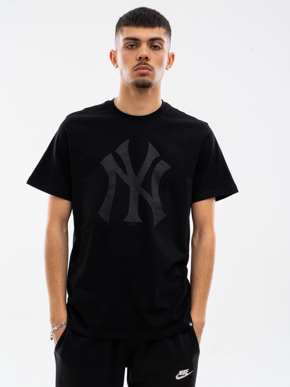 Koszulka Z Krótkim Rękawkiem 47 Brand New York Yankees Imprint Echo Czarna / Czarna
